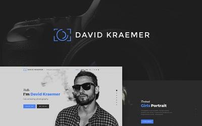 Девід Кремар - фотограф WordPress тема