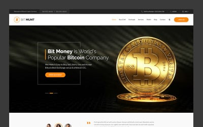 Bit Munt - Bitcoin Crypto Currency Landing Page Template