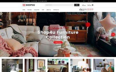 Shop4U - Tema Magento Responsivo de Móveis