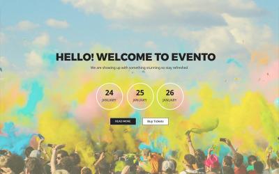Evento - Концертные мероприятия - Шаблон Unbounce