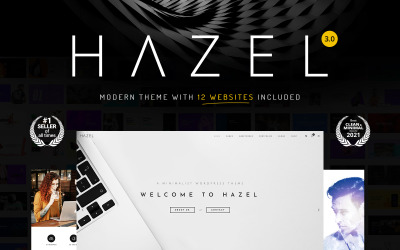 Hazel - минималистичная многоцелевая тема WordPress