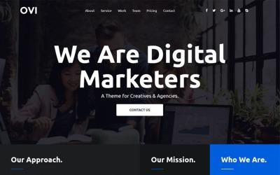 Ovi - Digital Agency Bootstrap Website Template