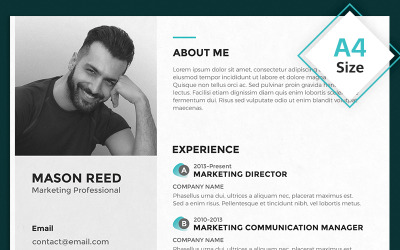 Mason Reed - Marketing Professional Resume Template