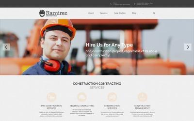 Рамірес - Тема WordPress для архітектурно-будівельної компанії
