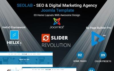 SEOLAB - SEO & Digital Marketing Agency Joomla Template