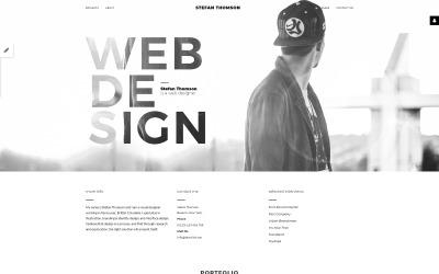 Stefan Thomson - Elegant Personal Web Designer Portfolio Joomla Template
