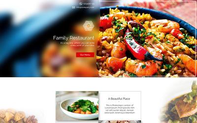 PSD шаблон цільової сторінки ресторану