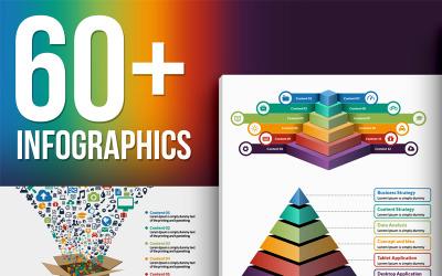 O maior pacote de elementos vetoriais de infográfico