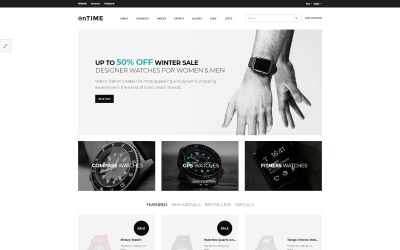 OnTime - Elegant Watches & Accesories Store OpenCart Template