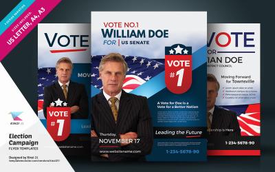 Verkiezingscampagne flyer en poster PSD-sjabloon