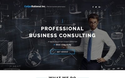 CorpoRational - Business Consulting with Built-In Novi Builder Landing Page Template
