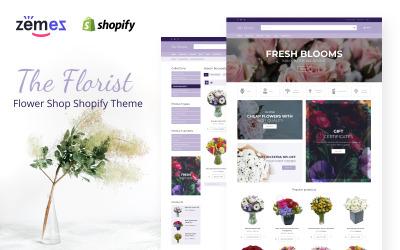 Цветочный магазин Shopify Тема