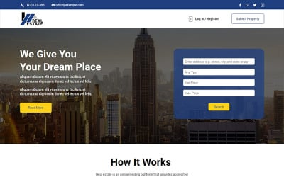 Real Estate - Unbounce template