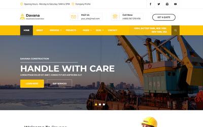 Davana - responzivní průmyslová obchodní html webová šablona