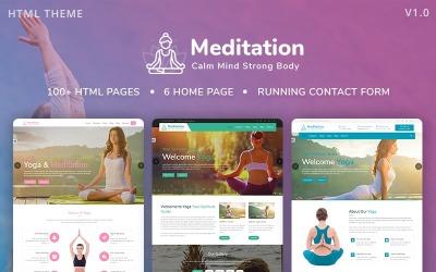 Meditation - Yoga, Fitness & Meditation Mobile Responsive Bootstrap HTML Website Template