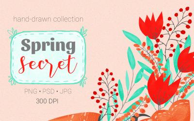Spring Secret Collection - Illustration