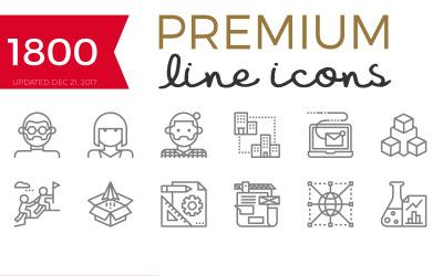 Becris - Conjunto de ícones de linha premium