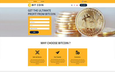 BitCoin - Currency - Unbounce template
