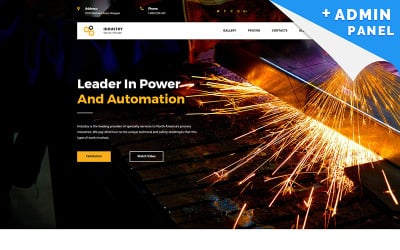 Industrial Company MotoCMS 3 Landing Page Template