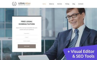 LegalAlien - Immigration Lawyer Moto CMS 3 Template