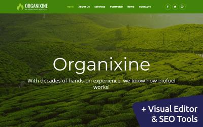 Organixine - Green Energy Moto CMS 3 Template