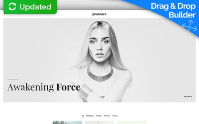 Photography MotoCMS 3 Landing Page Template