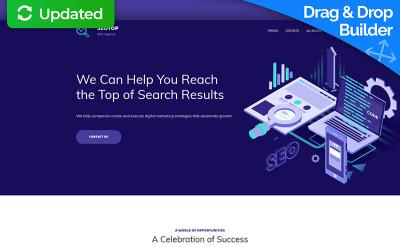 SEO Agency MotoCMS 3 Landing Page Template