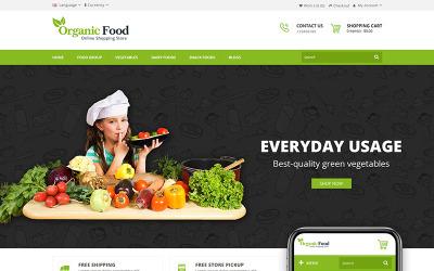 Organic Food Store OpenCart Template