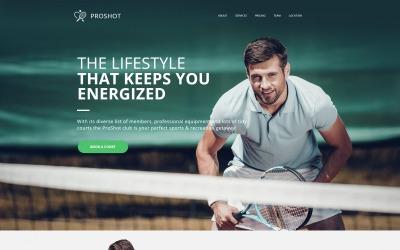 ProShot - Tennis Club Moto CMS HTML Template