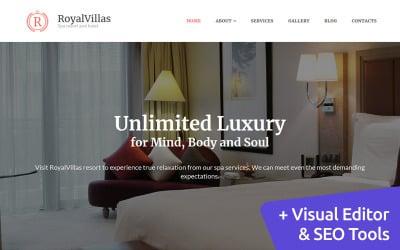 Royal Villas - Hotel Booking Moto CMS 3 Template