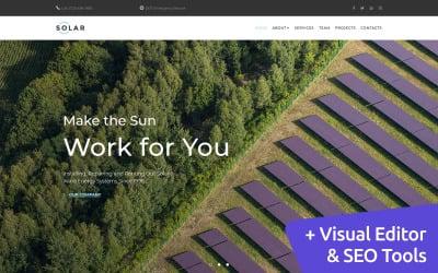 Solar - Alternative Energy Moto CMS 3 Template