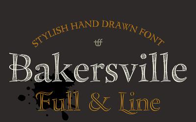 Bakersville - Lettertype