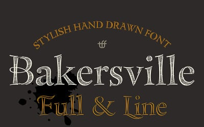 Bakersville - písmo