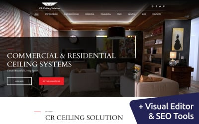 CR - Ceiling Solution Moto CMS 3 Template