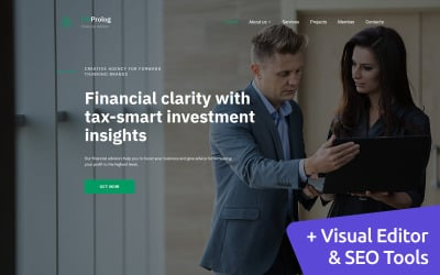 Financial Advisor Premium Moto CMS 3 Template