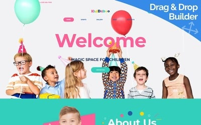 Kiddaboo - Szablon Moto CMS 3 usług dla dzieci