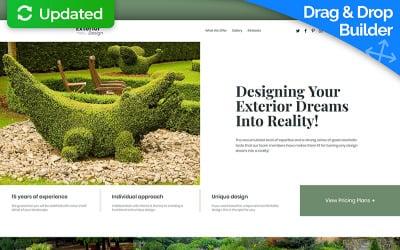Landscape Design MotoCMS 3 Landing Page Template