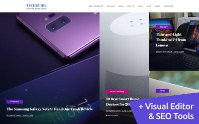 Latest Tech News & Reviews Moto CMS 3 Template