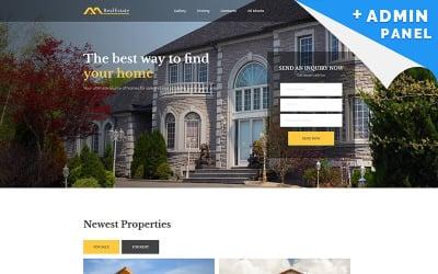 Real Estate MotoCMS 3 Landing Page Template