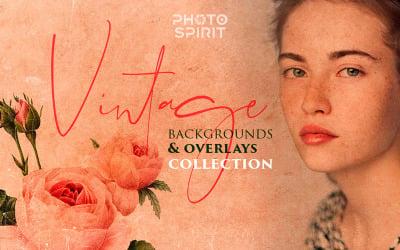Vintage Backgrounds & Overlays - - Illustration