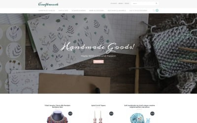 Craftwork - Sophisticated Handmade Jewelry Online Store OpenCart Template