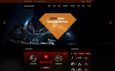 Game Island - Modèle de site Web Bootstrap multi-usages pour le portail de la communauté