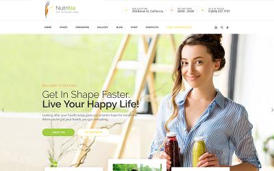 Nutritia - WordPress-thema voor gezonde voeding en diëtologie