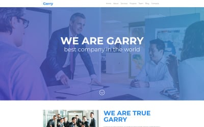 Garry - Responsive Business Landing Page Template