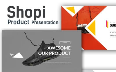 Shopi Premium Shop Presentation PowerPoint Template