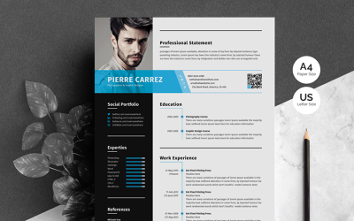 Pierre Carrez Professionell CV-mall
