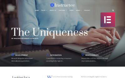 受训者-咨询服务WordPress Elementor主题