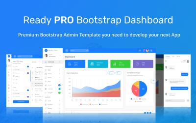 Готовий шаблон адміністратора інформаційної панелі Bootstrap