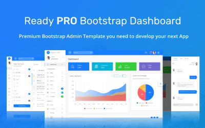 Modelo de administrador de painel de bootstrap pronto para uso