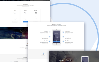 Appro - Landing Page Template